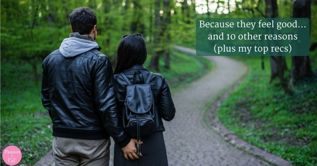 Two people standing side by side on a forest path. Their backs face us, and one has their hadn on the other's butt.   This is Why People Use a Butt Plug - Why Use a Butt Plug - Passion by Kait