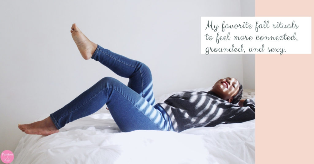 Person reclines on a bed with sunshine streaming on them. | Fall Rituals to Feel Sexier | Passion by Kait